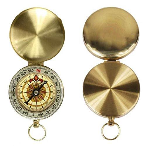 Lieja Langlebig Wasserdichte runde Taste Taschenuhr Kompass Kompasse