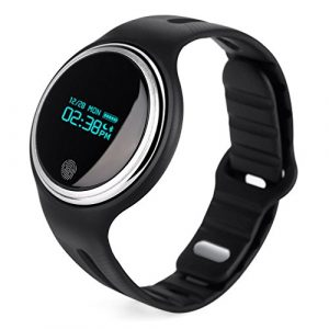 NICEAO Fitness Armband, Bluetooth Smartwatch Fitness Tracker Wasserdicht Armbanduhr Aktivitätstracker mit GPS Kompatibel IOS Android
