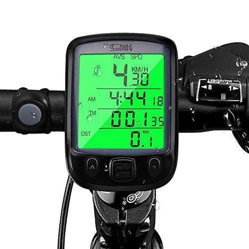 Fahrradcomputer Kabellos , otumixx 29 Funktionen Fahrradtacho Drahtlos Wasserdicht Radcomputer Kabellos Tachometer LCD-Hintergrundbeleuchtung Kilometerzähler für Radsport Realtime Speed Track