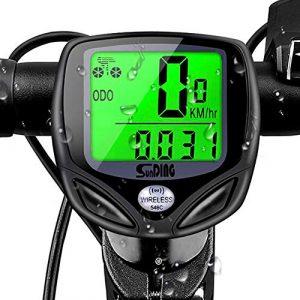 mixigoo Fahrradcomputer Kabellos, Drahtlos Wasserdicht Fahrradtacho 16 Funktionen Tachometer LCD-Hintergrundbeleuchtung Kilometerzähler Radcomputer für Radsport Realtime Speed Track