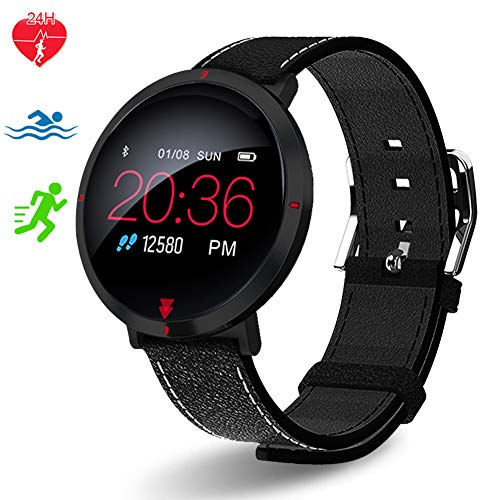 Polywell Fitness Tracker mit Pulsmesser, Monitor Fitness Armband Uhr Aktivitätstracker Pulsuhren Bluetooth, Smart Armbanduhr Schrittzähler