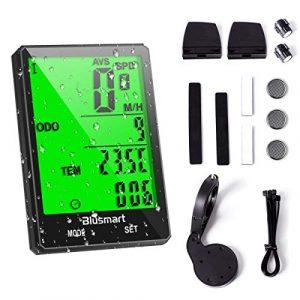 Blusmart Fahrradcomputer Kabellos Fahrrad Computer Wasserdicht 21 Funktionen Fahrradtacho Wireless Tachometer LCD-Display Automatische Geschwindigkeit für Radsport Realtime Speed Track
