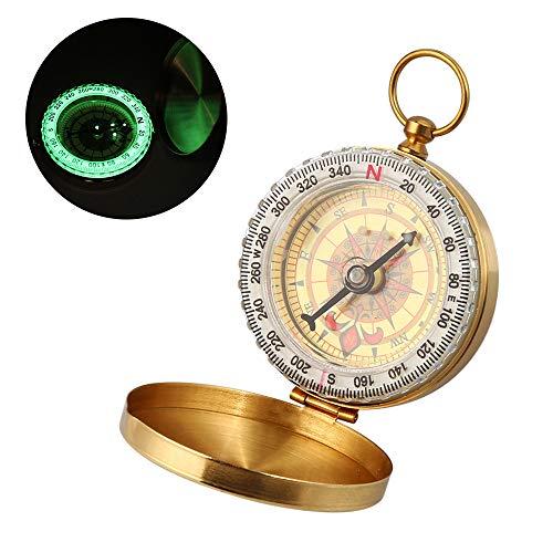 Nomisty Kompass Wasserdichter Messing Kompass,Portable Taschenuhr Kompass,Taschenkompass,Marschkompass,Sprungdeckel Compass Für Camping, Wandern und andere Outdoor-Aktivitäten.
