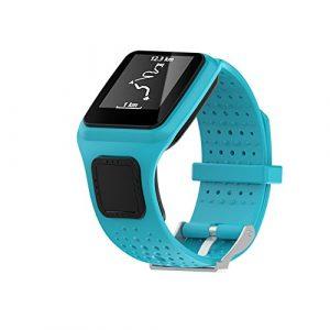 Beimaji Trade Ersatz-Armband für Armbanduhren, weiches Silikon, für Tomtom Multi Sport/Cardio GPS, für Laufen, Smartwatch (Einheitsgröße), DZ-168, blau