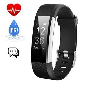 iposible Fitness Armband mit Pulsmesser, Fitness Tracker Uhr Schrittzähler Pulsuhr Aktivitätstracker Wasserdicht Herzfrequenzmonitor Smart Armbanduhr mit Schlafmonitor GPS für Herren Damen Kinder