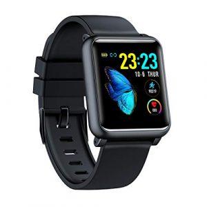Smartwatch Wasserdicht IP67 Smart Watch Uhr mit Pulsmesser Fitness Tracker Intelligente Armbanduhr Fitness Uhr mit Schrittzähler Schlaf-Monitor Call SMS Benachrichtigung Push für Android und iOS