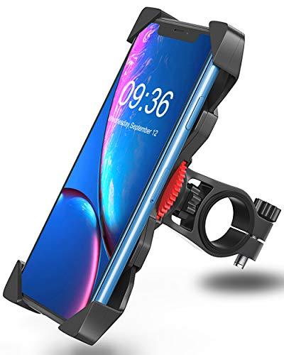 Handyhalterung Fahrrad Anti-Shake Bovon 360°Rotation Universal Fahrradhalterung Motorrad Fahrrad Lenker für iPhone Xs max / Xr / X / 8 / 7/ 6 Plus, Samsung Galaxy S10 Plus und alle 3.5-6.5 Zoll Handys