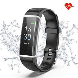 Fitness Armband mit Pulsmesser, IP68 Wasserdicht Fitness Tracker Aktivitäts tracker Pulsuhren Smartwatch Sportuhr Schrittzähler Uhr Vibrationsalarm Anruf SMS Für Android & iOS