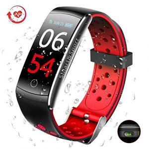 SUPTEMPO Fitness Armband mit Blutdruckmessung, Fitness Tracker mit Pulsmesser Wasserdicht IP68 Fitness Uhr Aktivitätstracker Pulsuhren Smartwatch Schrittzähler für Damen Herren Kinder
