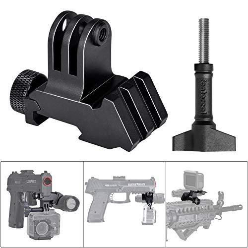 2in1 Action-Kamera/Picatinny-Schienen-Adapter für GoPro Motion Sport-Camcorder DV für AR15 M4 M16 Glock Gewehrkarabiner Paintball Airsoft Jagd Rec