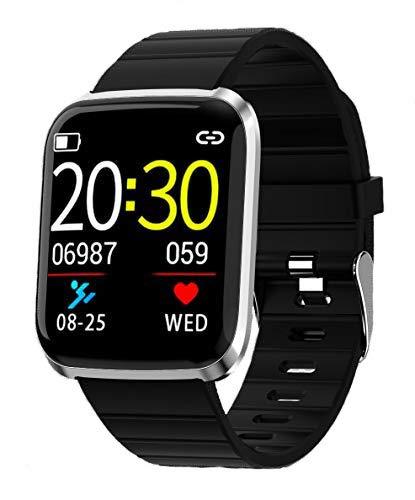Zelta 116 Plus Silber-schwarz sportlich, Moderne und leichte Smartwatch zur Aufzeichnung, Auswertung und Optimierung deiner Sport-Aktivitäten mit einfacher Touchbedienung.