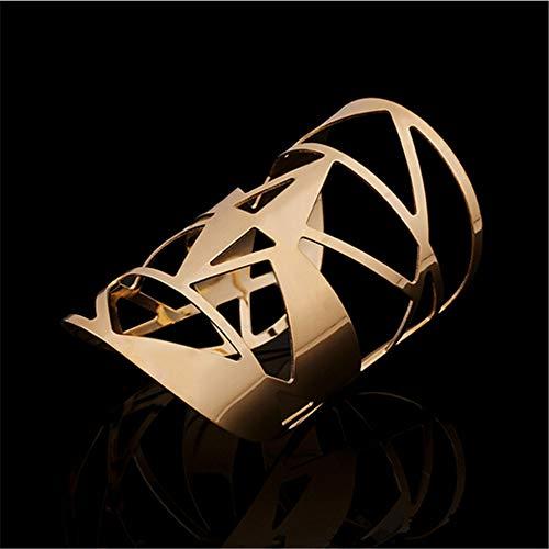 FRLISR Armband,Großes Armband des Hohlen Entwurfs Übertrieb Zufällige Temperamentschmucksachen Der Werbung, Welche Die Weibliche Armbandabendgoldfarbe Öffnen