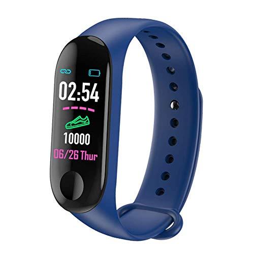 Zelta M3 Plus Blau sportlich, Moderne und leichte Smartwatch zur Aufzeichnung, Auswertung und Optimierung deiner Sport-Aktivitäten mit einfacher Touchbedienung.