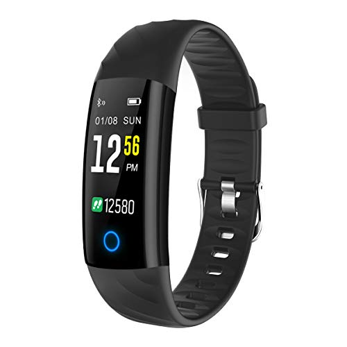 ELEGIANT Fitness Tracker, Fitness Armband Sportuhr Fitness Uhr Smart Armbanduhr Schrittzähler Aktivitätstracker mit Puls/Blutdruckmesser Schlafmonitor Kalorienzähler Vibrationsalarm wasserdicht