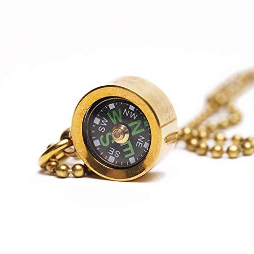 Liutao Kompasse Zuverlässige Outdoor-Ausrüstung Professioneller Kompass Messing-Minikompass Outdoor-Kompass Tragbarer Camping-Kompass Wasserdicht Langlebig Kompasse