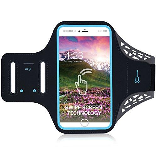 Handytasche Sport Iphone 6 Plus 6S Plus 7 Plus Sportarmband Handyhülle Running Armband für Samsung Galaxy S8 S7/S6/S6 Edge/S7 edge/S5 joggen Laufen Gym Armtasche wasserfeste Schlüsseltasche & Geld
