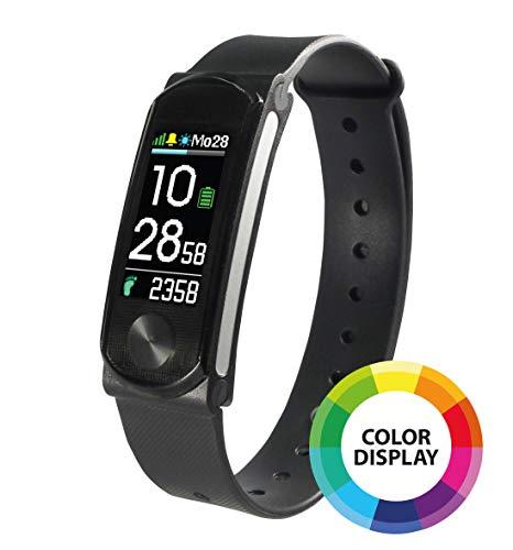 SportPlus Activity-Tracker mit Farbdisplay und Pulsmesser, Schrittzähler, Schlafüberwachung, Weckerfunktion, iPhone und Android, Lange Akkulaufzeit, sehr leicht, Fitness Armband SP-AT-BLE-100