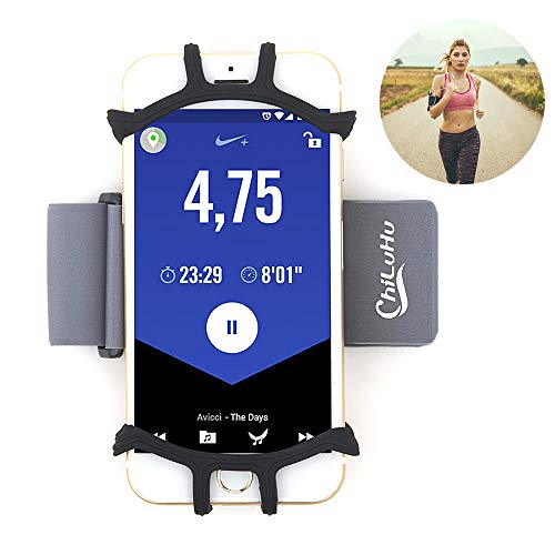 Sport Armband Abnehmbare Handytasche fürs Oberarm, WeyTy Sportarmband Fitness Handy Armtasche mit 4-6.5 Zoll Bildschirm Inklusive iPhone 8 Plus /8/7Plus/6 Plus/6,GalaxyS8/S8Plus/S7 Edge