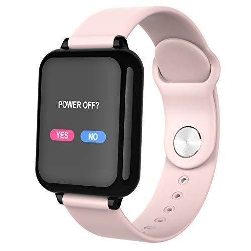 WLPT B57 Smartwatch, Männer Frauen Smartwatch Fitness Armband Tracker Herzfrequenzmesser Mehrere Sport Mode Männer Frauen Smart-Band-Uhr,Rosa