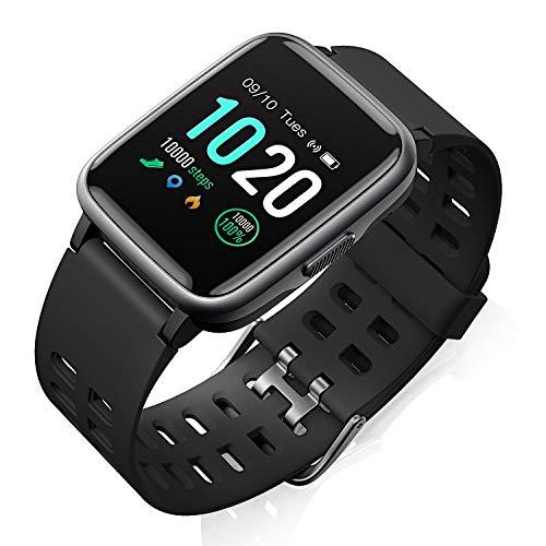 Smartwatch,Fitness Armband Uhr Voller Touch Screen Fitness Uhr IP68 Wasserdicht Fitness Tracker Sportuhr mit Schrittzähler Pulsuhren Stoppuhr für Damen Herren Smart Watch für iOS Android Handy
