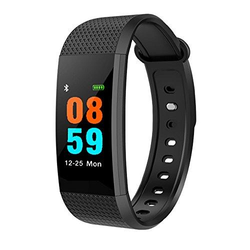 Muamaly Fitness Armband Mit Pulsmesser, Pulsmesser Wasserdicht Fitness Tracker Aktivitätstracker Pulsuhren Smartwatch Sport Blutdruck Smart Watch Für iPhone Android Handy