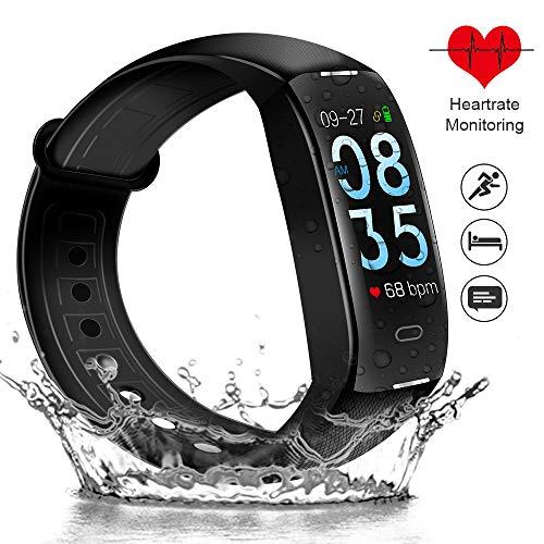 ODLICNO Fitness Armband IP67 Wasserdicht Fitness Tracker Aktivitätstracker mit 0.96