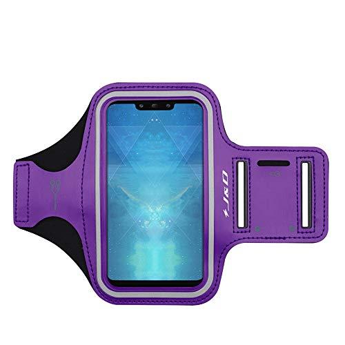 J&D Kompatibel für Huawei Mate 20/20 Pro/20 Lite/Mate X/Honor 8X/Honor Play/P Smart Z Armband, Sportarmband für Mate 20 Mate X Running Armband, Zusätzliche Tasche für Schlüssel, Kopfhörer-Verbindung