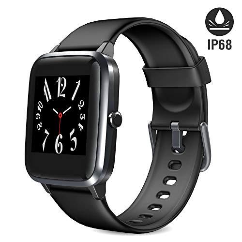 Blackview Smartwatch, Fitness Armband Uhr Voller Touch Screen Fitness Tracker mit Pulsmesser, IP68 Wasserdicht, Aktivitätstracker Sportuhr Schrittzähler Damen für Herren Stoppuhr für iOS Android