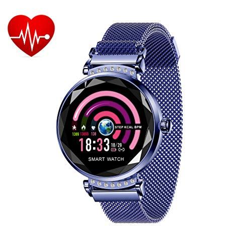 KING Watch Mode Fitness Armband Damen Blutdruckmesser Schlanke Sportuhr, Frauen Smartwatch mit Pulsmesser Schlafmonitor SchrittzäHler Wasserdicht IP67 Farbbildschirm Android iOS Handy