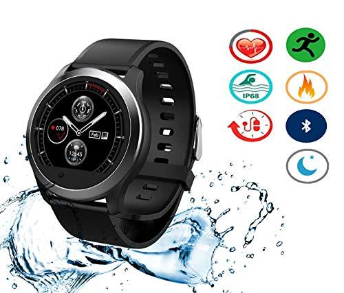 Mavis Laven Smart Watch Fitness Tracker, Herzfrequenz-Messgerät Blutdruck-EKG-Test Wasserdichtes Smart Sport-Armband, Smartwatch für Herren, Damen, Kinder
