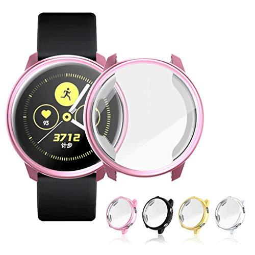 FeiliandaJJ 1PCS Watch Schutzhülle mit Film für Samsung Active Watch, Smartwatch Galvanisches Transparentes TPU Gehäuse Bruchsicher Leichte Watch Case Cover Gehäuseabdeckung