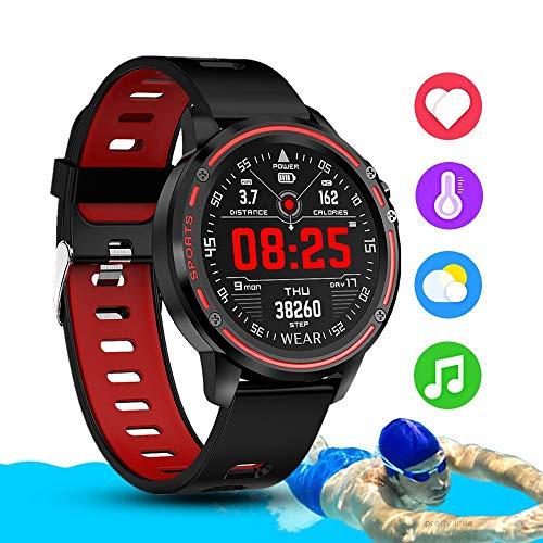 JINLI Smart-Uhr-Mann-IP68 wasserdichte Reloj Hombre Mode Smartwatch mit EKG-PPG-Blutdruck-Puls Sport Fitness Uhren