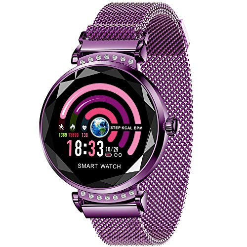 XMYL Fitness Activity Tracker,Sport Smart Watch mit Pulsmesser, IP67 wasserdichte Fitnessuhr, Faul Dekoration Uhr mit Magnet,für Samsung Huawei Android IOS Smartphone