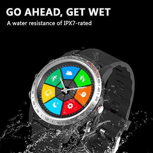 SoundJA Smartwatch mit LCD 2 Zoll Perforierter Bildschirm und Dual Bluetooth / IP67 Wasserdichte Smart Watch mit Anruf LCD-Lochbildschirm Dual Bluetooth Smart Uhr kleine Lünette
