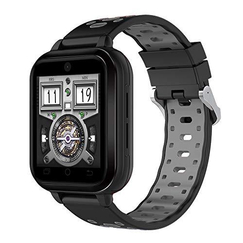 FeiliandaJJ Smartwatch Herren Damen Bluetooth GPS WiFi Wasserdicht Fitness Tracker 4G Telefon-Anruf Smartwatch SIM Karte Slot Schlaferkennung Kompatibel Android Phones,RAM 1GB + 8GB ROM