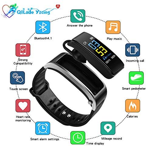 Globeks Smartband Sport-Smartwatches mit Bluetooth-Headsets, ganztägiger Herzfrequenz-Blutdruck-Schlaf-Gesundheitsmonitor, Fitness-Tracker Kompatibel mit Android und iPhone