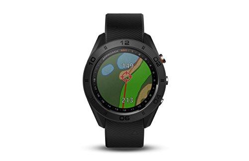 S60GPS-Golf-Uhr mit schwarzem Lederband, 3cm - von Garmin Approach