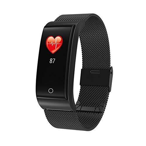 Holeider Fitness Armband für Aktivitätstracker Wasserdicht Fitness Tracker Uhr mit Schrittzähler und Anruf Nachricht Benachrichtigung für Kinder Damen Herren, Smartwatch mit Mesh Metall-Armband