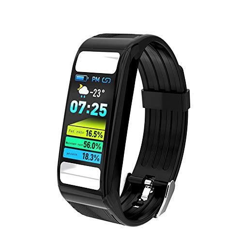 Wristwatch Fitness-Tracker für Damen und Herren, wasserdichter Fitness-Armband-Aktivitäts-Tracker-Schrittzähler mit Pulsmesser-Uhr zur Messung des Körperfetts. Sport-Smart-Armband