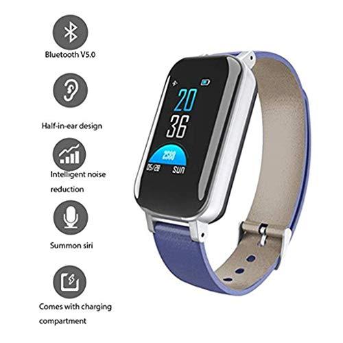 2 in 1 Smartwatch Mit Kabellosen Kopfhörern, Blut Pulsmesser Kcal Sport Smart Armband, 0,96-Zoll-TFT-Bildschirm Smart Watch