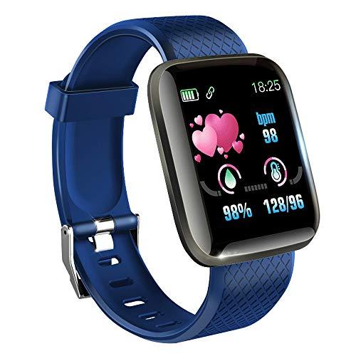 KawKaw Smartwatch mit Pulsmesser & Schrittzähler für Damen und Herren - Integrierter Kalorienzähler & Activity Tracker Blutdruckmesser - Smart Watch Armband Uhr für Sport und Fitness